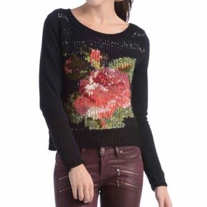 Free People  rose sweater sz M